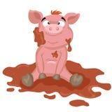 Świnia w błocie Zdjęcie Stock