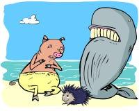Świnia, wieloryb i jeż Zdjęcie Stock