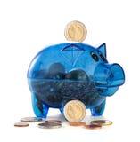 Świnia z monetami menniczy pudełko Fotografia Stock