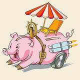 Świniowata prosiątka lub gwałtownego akumulacja royalty ilustracja