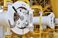 Świniowaty luncher w ropa i gaz przemysle, Czyści drymby kreskowy wyposażenie w ropa i gaz przemysle Zdjęcie Stock