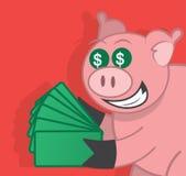Świniowaty pieniądze ilustracji