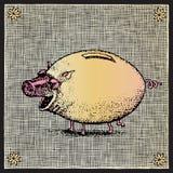 świniowaty woodcut royalty ilustracja