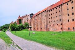 Świrony Grudziadz przy Wisla rzeką w Polska zdjęcia royalty free