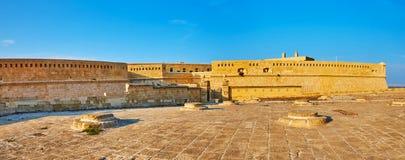 Świrony przy fortu St Elmo, Valletta, Malta zdjęcia royalty free