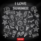 Świstek ustawia Mnie kocha lato ilustracja wektor