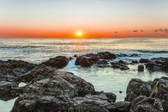 Świt na Czarnym morzu w Sozopol, Bułgaria Obraz Royalty Free