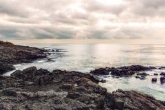 Świt na Czarnym morzu w Sozopol, Bułgaria Fotografia Stock
