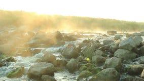 Świt nad gnanie rzeką zbiory