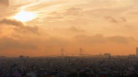 Świt nad miastem Ho Chi Minh miasto zbiory wideo