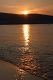 Świt nad wodą Fotografia Royalty Free