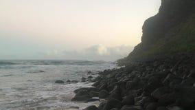 Świt przy Polihale plażą na Kauai wyspie, Hawaje zbiory