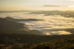 Świt w górach… Obrazy Royalty Free