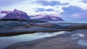 Świt w Norwegia przy przylądkiem Tungeneset Czasu upływ zdjęcie wideo