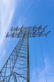 źródła energii elektrycznej budowy przemysłowej pracy Zdjęcia Royalty Free
