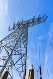 źródła energii elektrycznej budowy przemysłowej pracy Zdjęcie Royalty Free