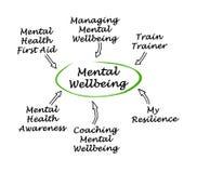 Źródła Umysłowy Wellbeing royalty ilustracja