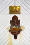Źródło Żadny termiczna woda mineralna 3 Niski grodowy ` w Karlovy Zmienia republika czech Czeskiego teksta ` źródła niski grodowy Fotografia Royalty Free