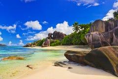 źródło plażowy d Seychelles źródło