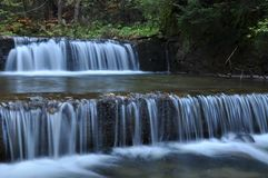 Źródło Vistula Krystaliczny strumień, czysta woda i siklawa, zdjęcia royalty free