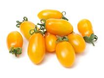 Żółci czereśniowi pomidory Zdjęcie Stock