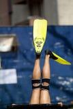 Żółci flippers Zdjęcia Royalty Free
