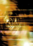Żółci muzyczni mówcy Zdjęcia Royalty Free