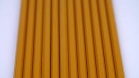 Żółci ołówki z rzędu zbiory