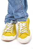 Żółci Sneakers Obrazy Stock