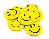 Żółci uśmiechy Fotografia Stock