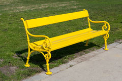 Żółta ławka Obrazy Royalty Free