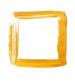Żółta akrylowa kwadrat rama obraz royalty free