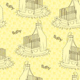 Żółta children tekstura Zdjęcie Stock
