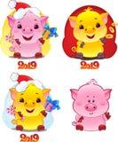 Żółta Earthy świnia dla nowego roku 2019 Śliczny symbol chińczyk obrazy royalty free