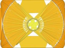Żółta geometrycznego projekta ilustracja ilustracji