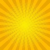 Żółta halftone tła wektoru ilustracja Zdjęcie Royalty Free