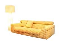 Żółta kanapa Zdjęcia Royalty Free