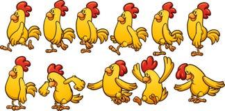 Żółta kurczak animacja Obrazy Royalty Free