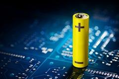 Żółta mignon bateria Obraz Royalty Free