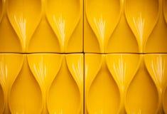 Żółta plastikowa budowa Zdjęcia Royalty Free