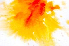 żółta pomarańcze, rozmyty punkt akwareli farba Tło ilustracji