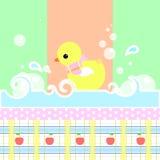 Żółta prysznic kaczka ilustracji