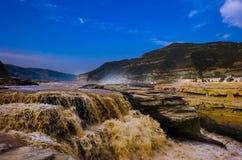 Żółta rzeka Obrazy Stock