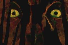 żółte oczy royalty ilustracja