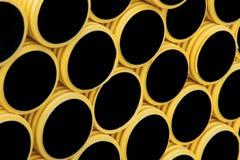Żółte plastikowe drymby zdjęcia royalty free