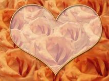 żółte róże graniczne Obrazy Royalty Free