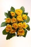 żółte róże wiązek Zdjęcia Royalty Free
