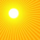 Żółte słońce Zdjęcia Royalty Free