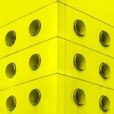 Żółte wewnętrzne architektury abstrakta brudu wentylacje. Obrazy Royalty Free
