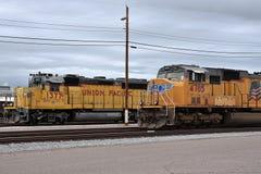 Żółte Zrzeszeniowe Pacyfik pociągu lokomotywy obraz royalty free
